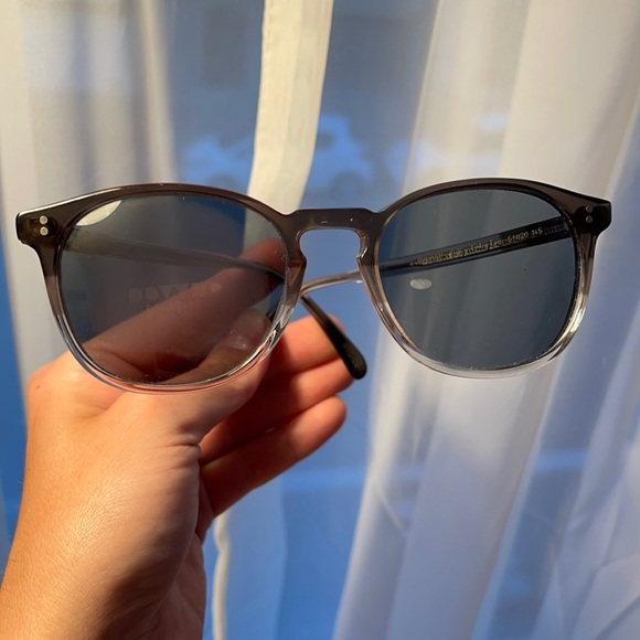 Oliver Peoples Finley w/ grey glass tinted lenses